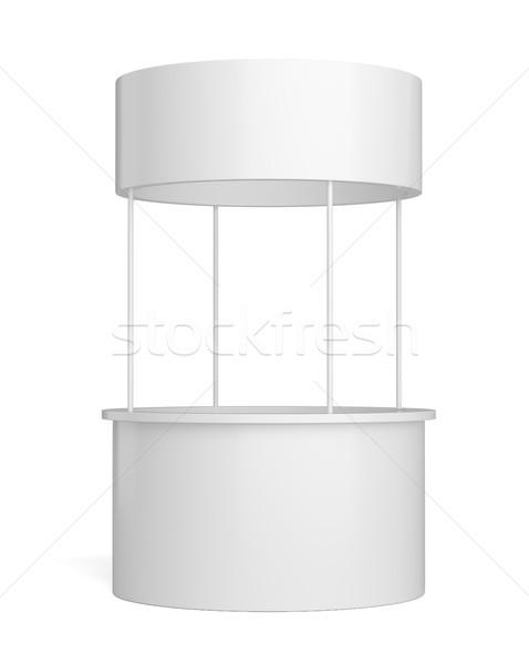 Blanco poi publicidad menor stand aislado Foto stock © cherezoff