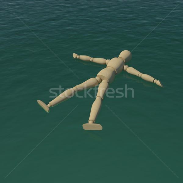 Legno uomo mare acqua 3D Foto d'archivio © cherezoff