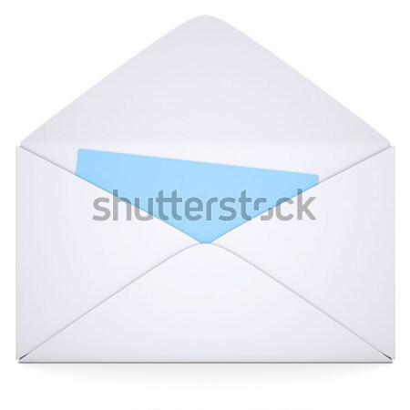 Open white envelope Stock photo © cherezoff