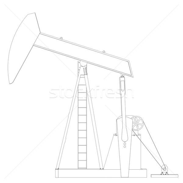 Oil pump. Wire frame Stock photo © cherezoff
