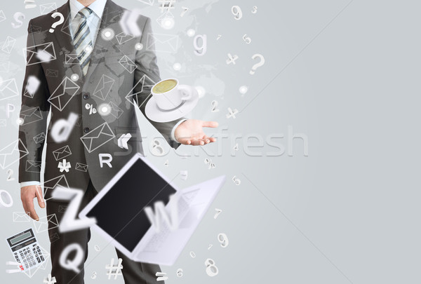 Man in a suit. The concept of office work Stock photo © cherezoff