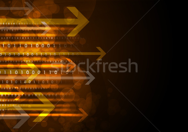 Glowing figures and arrows. Hi-tech background Stock photo © cherezoff