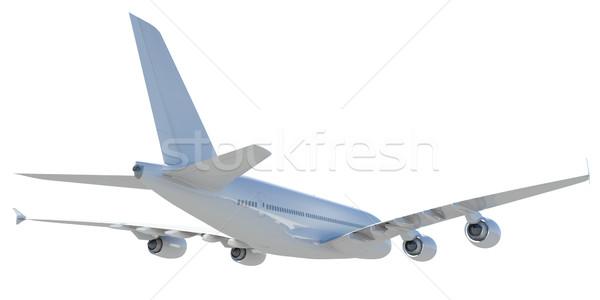 White modern airplane Stock photo © cherezoff