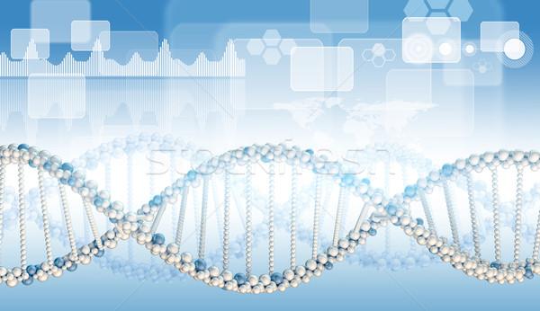 ДНК модель синий градиент белый Сток-фото © cherezoff