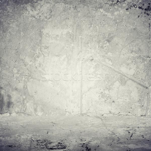 Old gray cement wall Stock photo © cherezoff