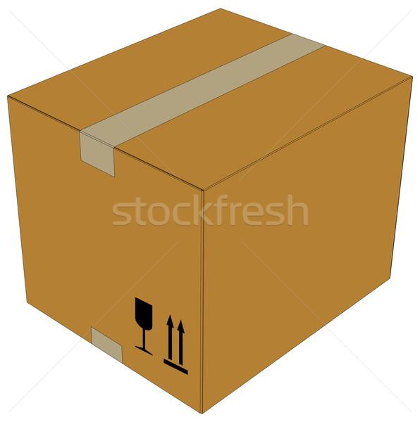 Carton box. Vector illustration Stock photo © cherezoff