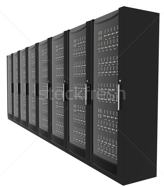 Set of metal lockers on white, close-up view Stock photo © cherezoff