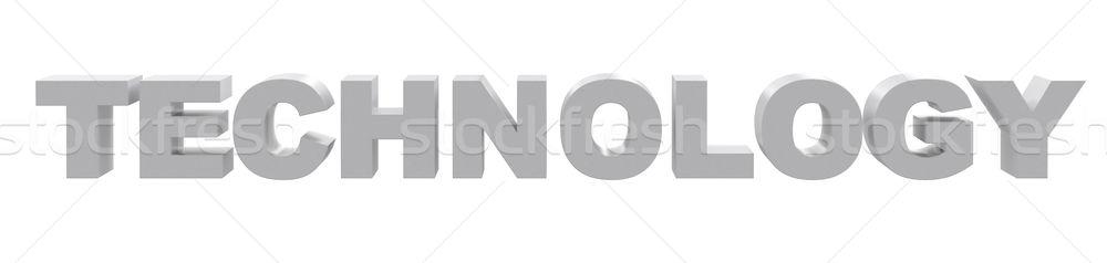 Word technology on white Stock photo © cherezoff