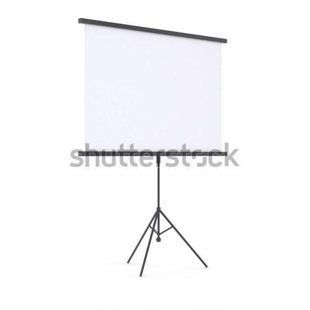 Blank portable projection screen Stock photo © cherezoff