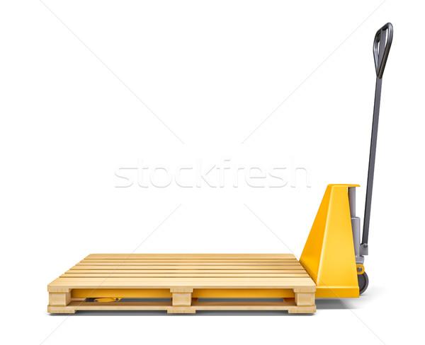 Pallet jack isolated on white Stock photo © cherezoff