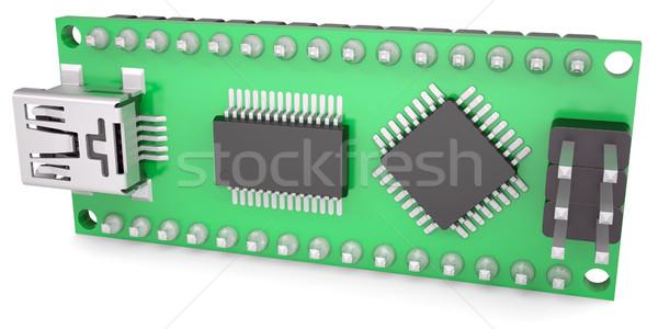 Computer boord chips usb geïsoleerd Stockfoto © cherezoff