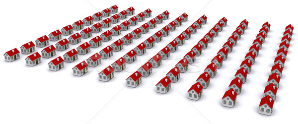 Group of houses with red roof Stock photo © cherezoff