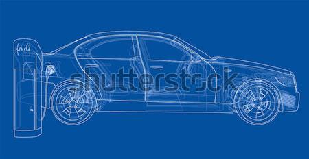 Hi-tech car on a blue background Stock photo © cherezoff