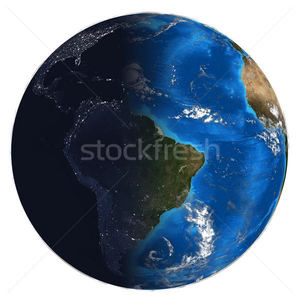 Föld napja éjszaka elemek kép térkép tenger Stock fotó © cherezoff