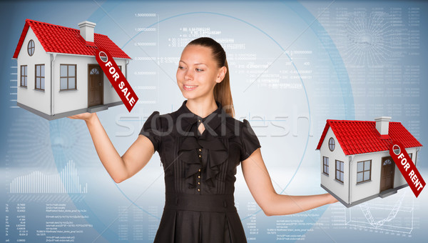 女性実業家 2 家 販売 ストックフォト © cherezoff