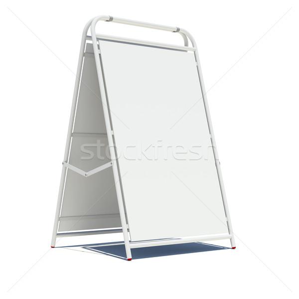 White sidewalk sign with empty surface Stock photo © cherezoff