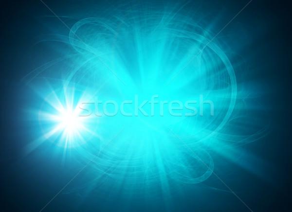 Buğu soyut mavi ışıklar Stok fotoğraf © cherezoff
