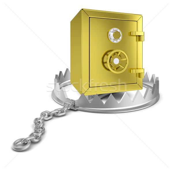 Safe box in bear trap Stock photo © cherezoff