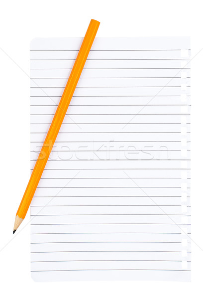 Piece of paper with pencil Stock photo © cherezoff