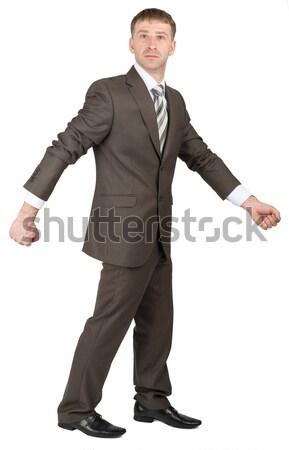 Businessman with fist forward Stock photo © cherezoff