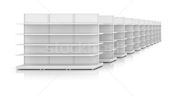 Raflar yalıtılmış beyaz 3D iş Stok fotoğraf © cherezoff