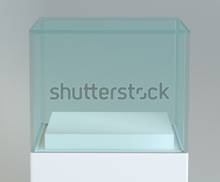 Empty glass showcase for exhibit Stock photo © cherezoff