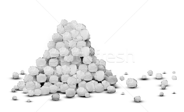 A pile of crumpled paper. 3d illustration Stock photo © cherezoff