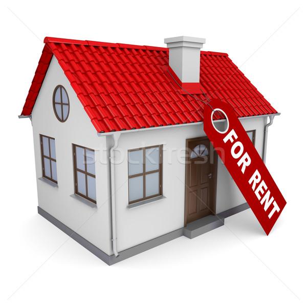Pequeño casa etiqueta alquilar aislado hacer Foto stock © cherezoff