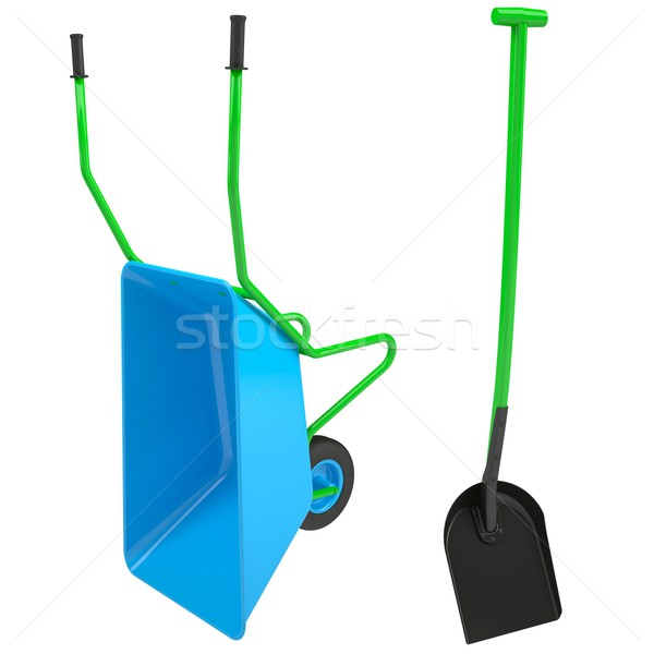 Wheelbarrows and shovel Stock photo © cherezoff
