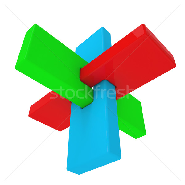 Colorful abstract 3D shape Stock photo © cherezoff