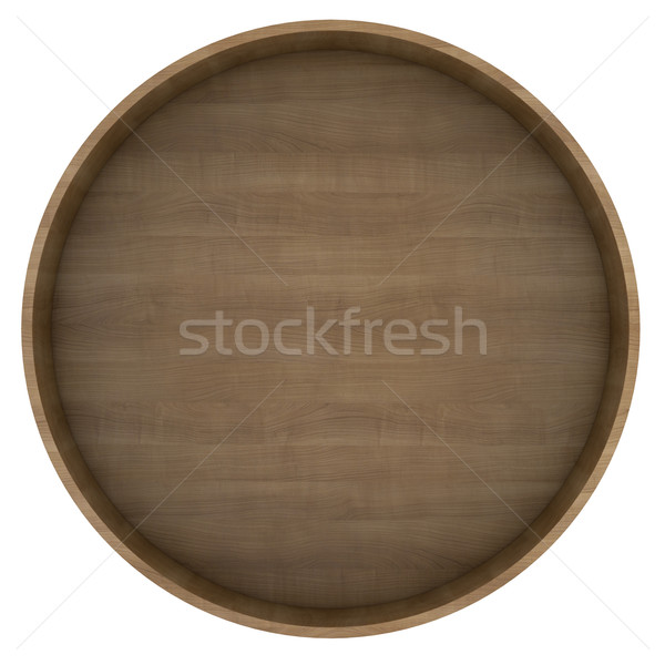 Round wooden shelf Stock photo © cherezoff