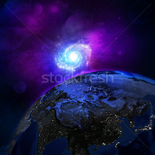 1泊 表面 地球 要素 画像 空 ストックフォト © cherezoff