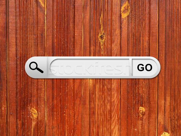 Wyszukiwania bar przeglądarka malowany Zdjęcia stock © cherezoff