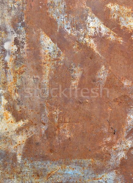 Vecchio arrugginito superficie metallica industriali vernice Foto d'archivio © cherezoff