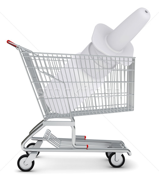 Nasal spray in shopping cart Stock photo © cherezoff