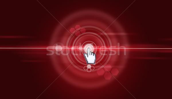 Imleç sanal kırmızı ekran soyut yeşil Stok fotoğraf © cherezoff
