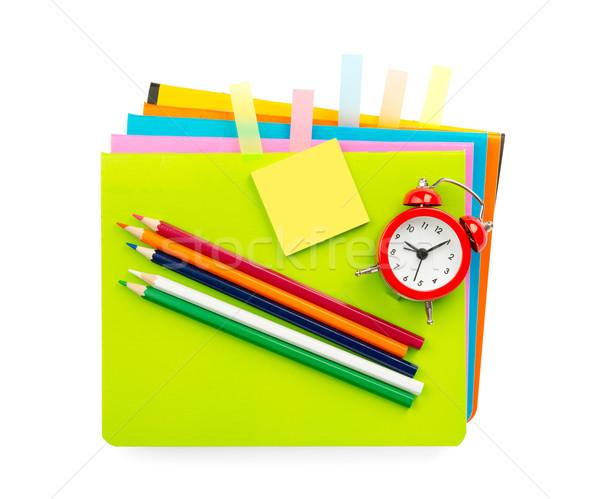 Crayons and sticker Stock photo © cherezoff