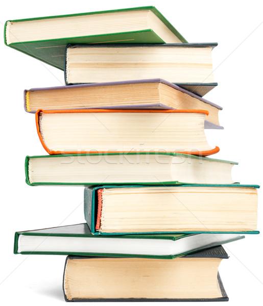 ランダム 教科書 塔 孤立した 白 紙 ストックフォト © cherezoff