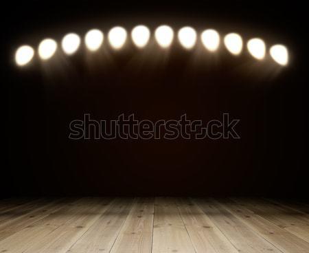 ışık karanlık oda bo müzik Stok fotoğraf © cherezoff