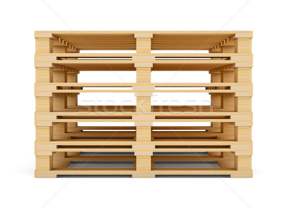 Wooden pallets. Isolated on white Stock photo © cherezoff