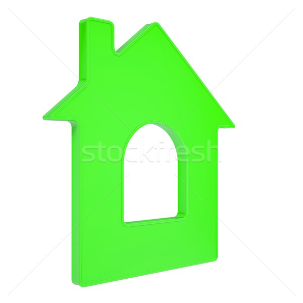 Haus Symbol isoliert weiß Business Stock foto © cherezoff