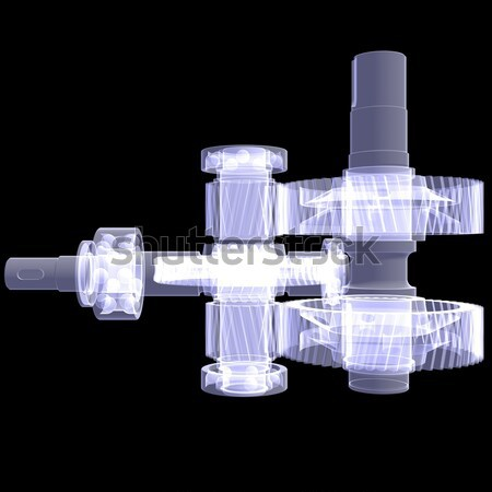Bulldozer. X-ray Stock photo © cherezoff