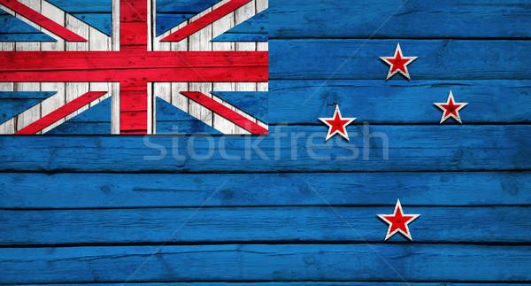 Nueva Zelandia bandera pintado grunge estilo Foto stock © cherezoff