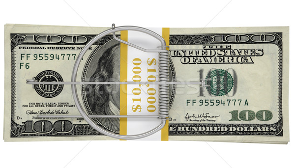 Empacotar dinheiro negócio branco papel metal Foto stock © cherezoff