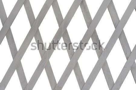Lattice made of thin wooden boards Stock photo © cherezoff