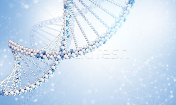 DNA model with blured wire-frame spheres Stock photo © cherezoff