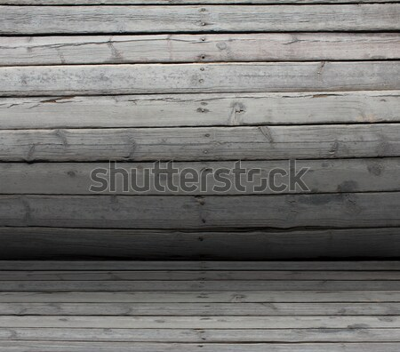 Convex texture nailed wooden railing Stock photo © cherezoff