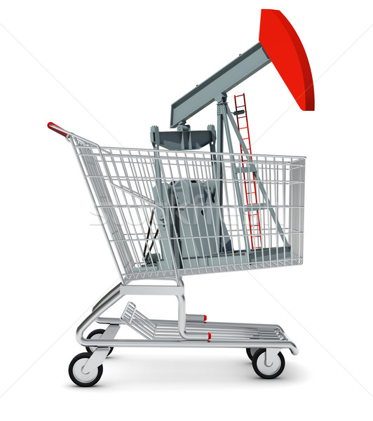 Oil pump in shopping cart Stock photo © cherezoff