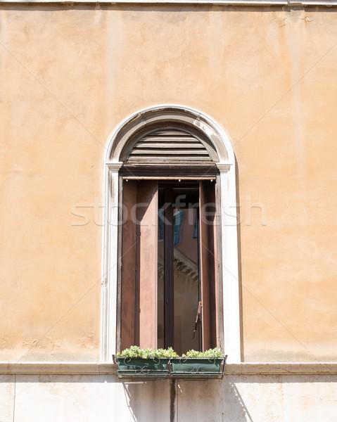 Open window with plants Stock photo © cherezoff