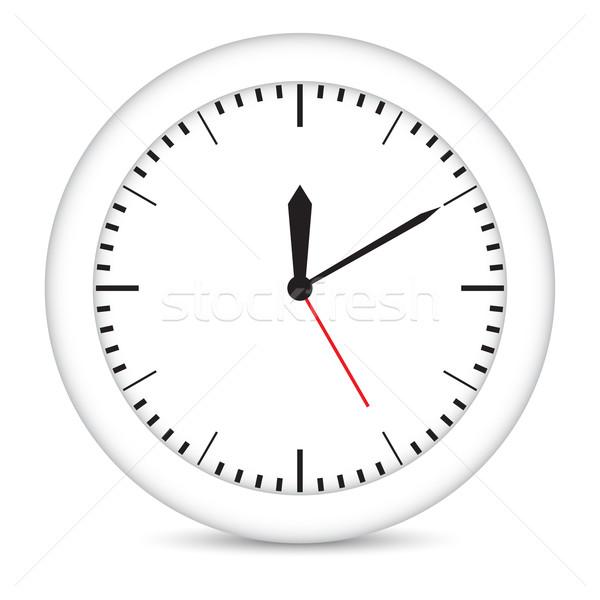 Round clock with white frame  Stock photo © cherezoff